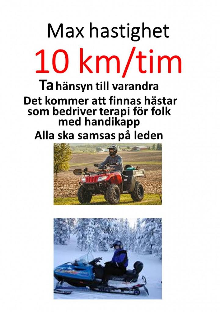Max hastighet 10 km 2