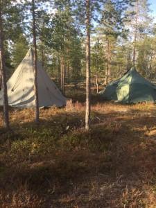 Två tält