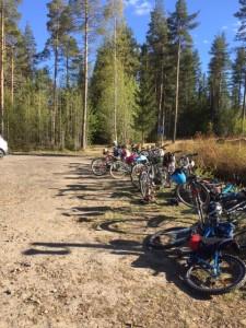 Cyklar i vänt läge för avfärd till Klippan och övernattning